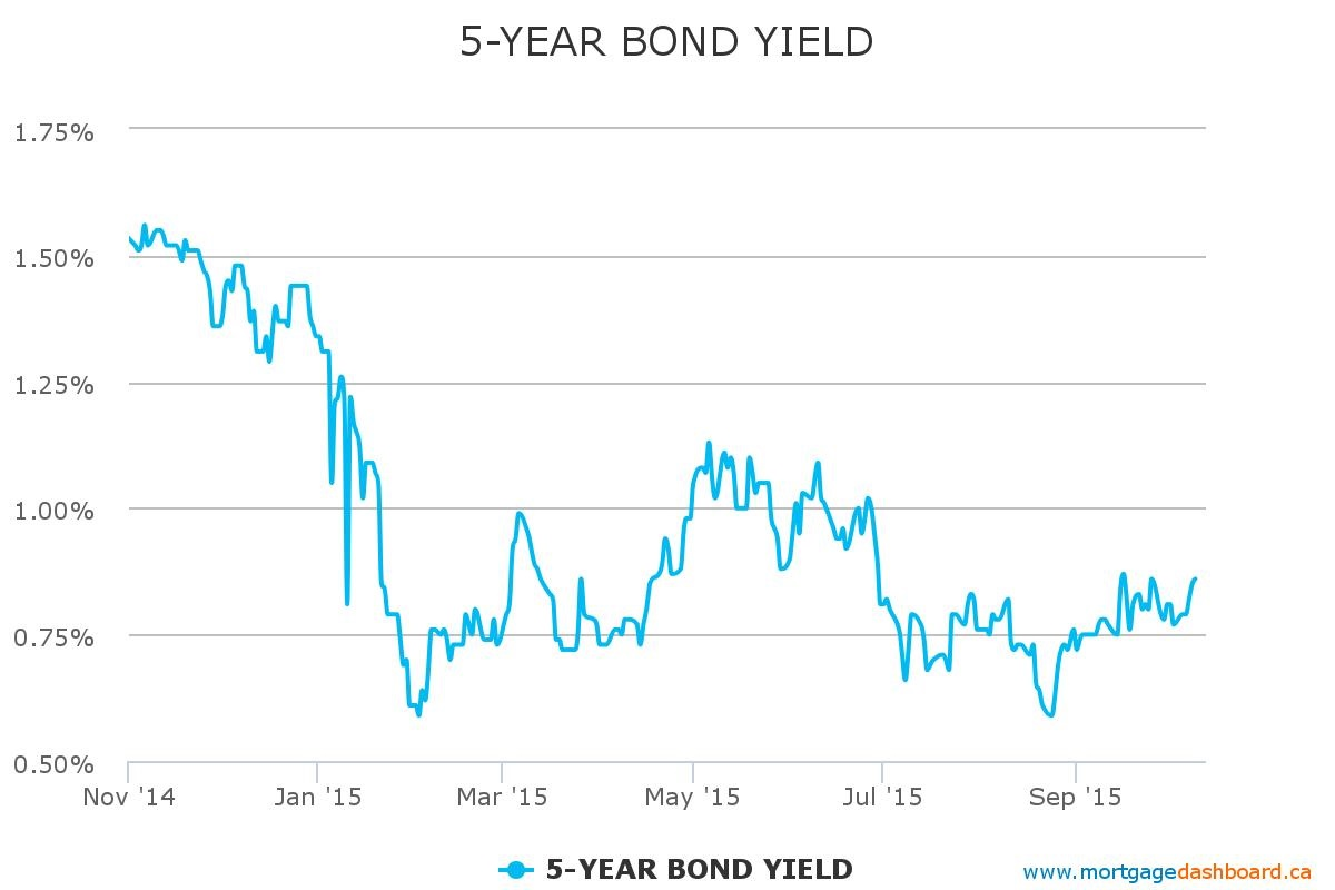 5 year government bond yield
