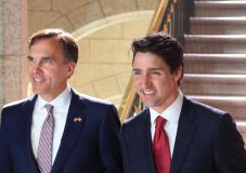 bill morneau and prime minister justin trudeau on the mortgage stress test