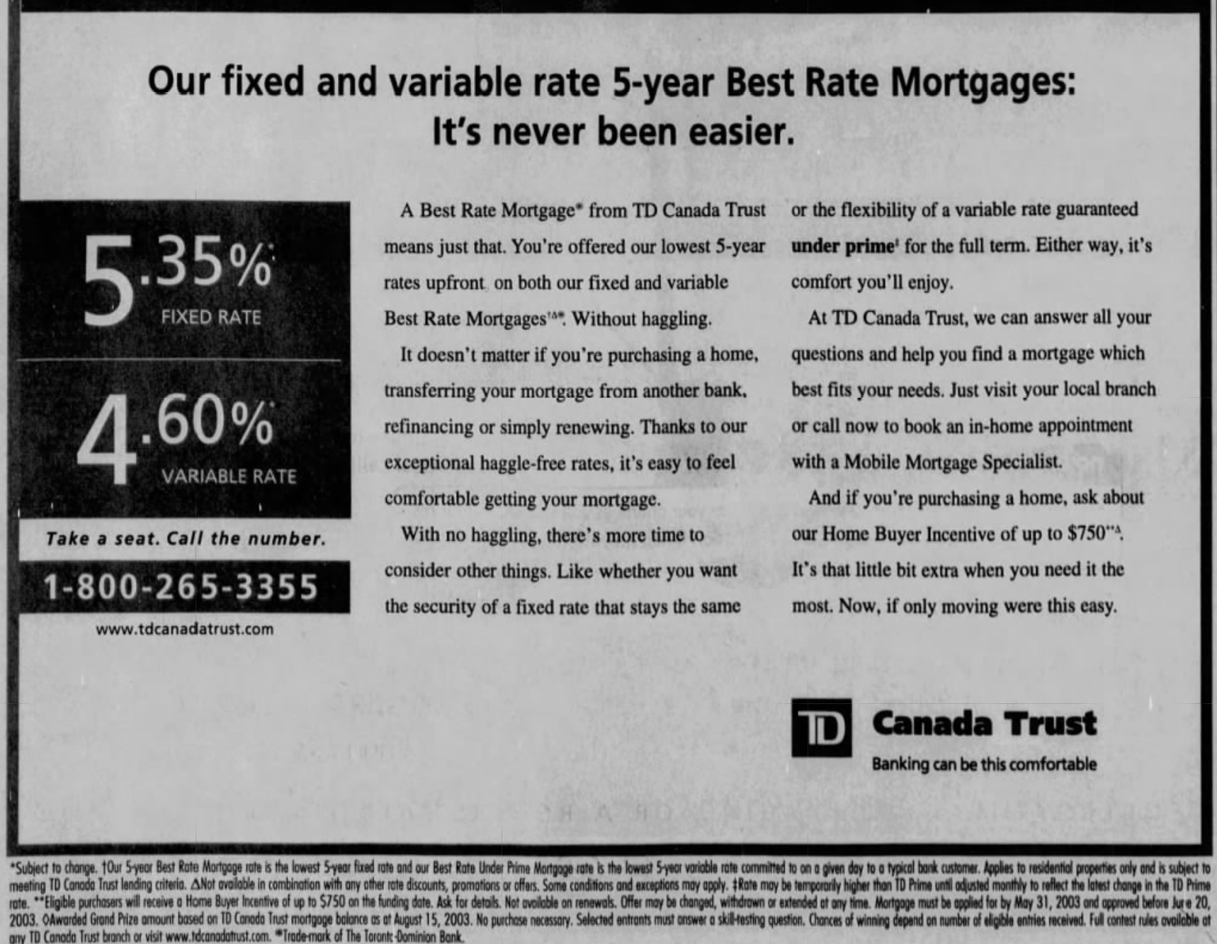 TD Best Rate Mortgage