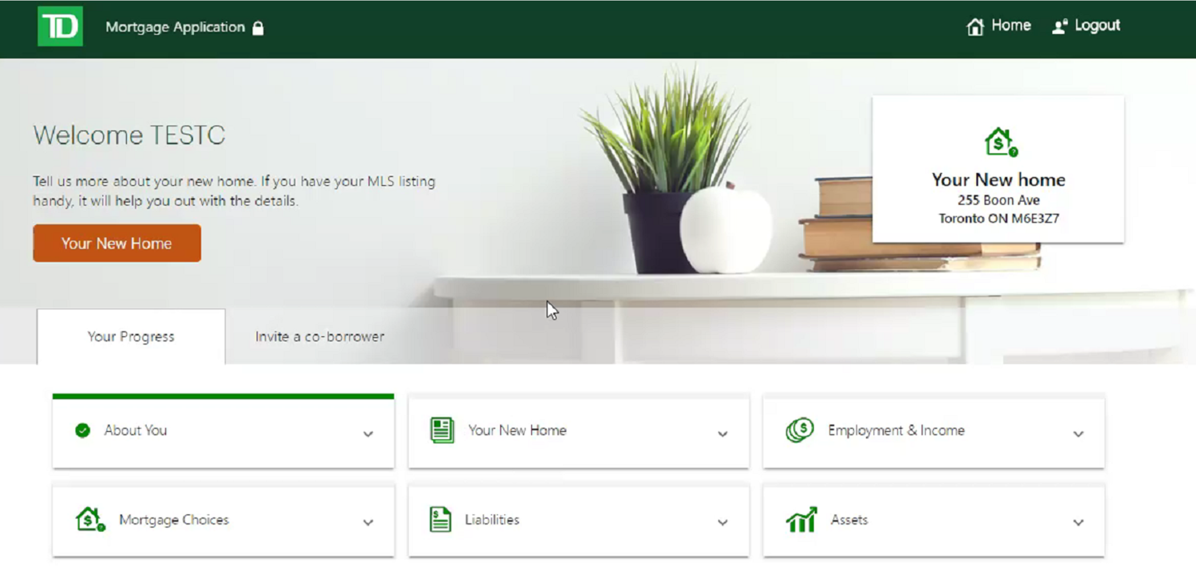 TD bank digital mortgage platform