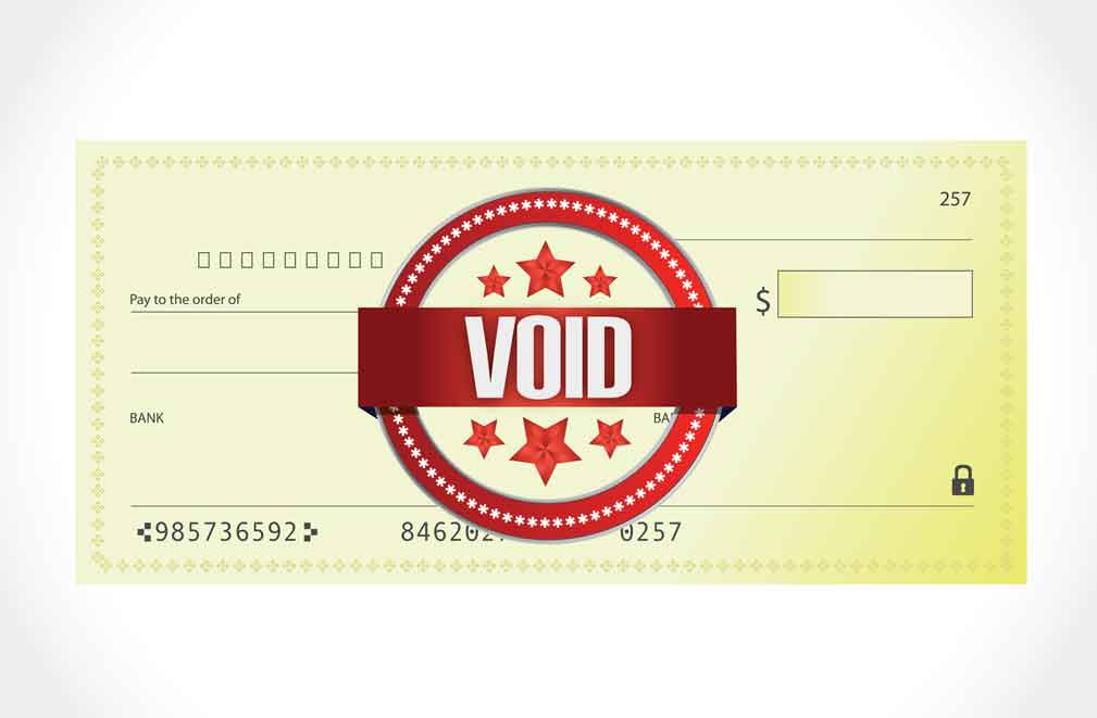 Void cheque for mortgage payments